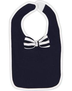 Nv/ Wh/ Nv Wh St Infant Bow Tie Bib