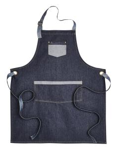 Indigo Denim Unisex Domain Contrast Denim Bib Apron