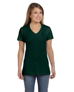 Deep Forest Women's 4.5 oz., 100% Ringspun Cotton nano-T® V-Neck T-Shirt