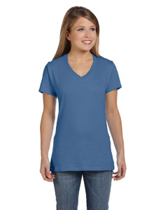 Vintage Denim Women's 4.5 oz., 100% Ringspun Cotton nano-T® V-Neck T-Shirt