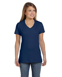 Vintage Navy Women's 4.5 oz., 100% Ringspun Cotton nano-T® V-Neck T-Shirt