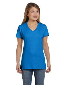 Bluebell Breeze Women's 4.5 oz., 100% Ringspun Cotton nano-T® V-Neck T-Shirt