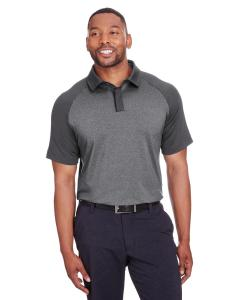 Black Hthr/ Blk Men's Peak Polo