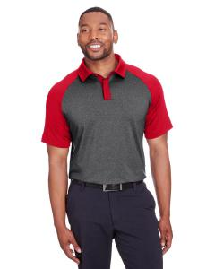 Black Hthr/ Red Men's Peak Polo