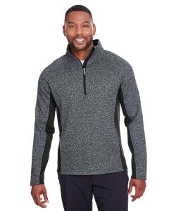 Black Hthr/ Blk Mens Constant Half-Zip Sweater