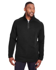 Black Mens Capture Quarter-Zip Fleece