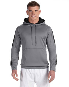 Stone Gray/blk Adult 5.4 oz. Performance Fleece Pullover Hood