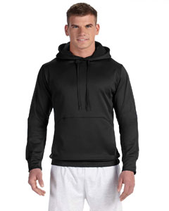 Black/black 5.4 oz. Performance Colorblock Pullover Hood