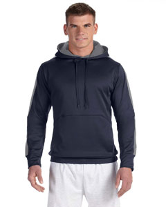 Navy/stone Gray Adult 5.4 oz. Performance Fleece Pullover Hood