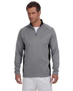 Stone Gray/blk Adult 5.4 oz. Performance Fleece Quarter-Zip Jacket