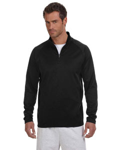 Black/black Adult 5.4 oz. Performance Fleece Quarter-Zip Jacket