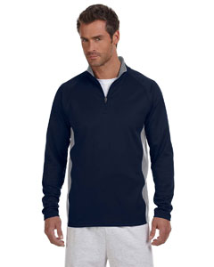 Navy/stone Gray Adult 5.4 oz. Performance Fleece Quarter-Zip Jacket
