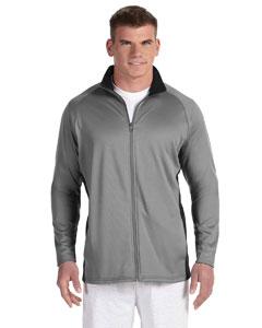 Stone Gray/blk Adult 5.4 oz. Performance Fleece Full-Zip Jacket