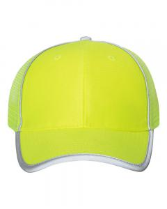 Safety Yellow Safety Mesh-Back Cap