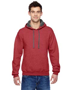 Brick Heather 7.2 oz. Sofspun™ Hooded Sweatshirt