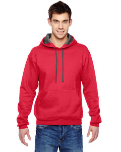 Fiery Red 7.2 oz. Sofspun™ Hooded Sweatshirt