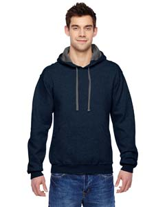 Indigo Heather 7.2 oz. Sofspun™ Hooded Sweatshirt