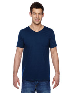 J Navy 4.7 oz., 100% Sofspun™ Cotton Jersey V-Neck T-Shirt