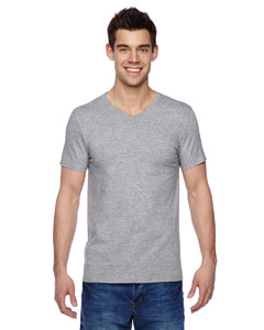 Athletic Heather 4.7 oz., 100% Sofspun™ Cotton Jersey V-Neck T-Shirt