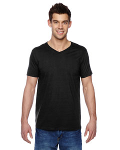 Black 4.7 oz., 100% Sofspun™ Cotton Jersey V-Neck T-Shirt