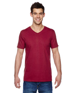 Cardinal 4.7 oz., 100% Sofspun™ Cotton Jersey V-Neck T-Shirt