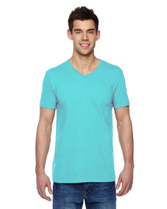 Scuba Blue 4.7 oz., 100% Sofspun™ Cotton Jersey V-Neck T-Shirt