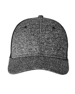 Black Heather Adult Constant Sweater Trucker Cap