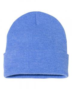 "Heather Royal 12"" Solid Knit Beanie"