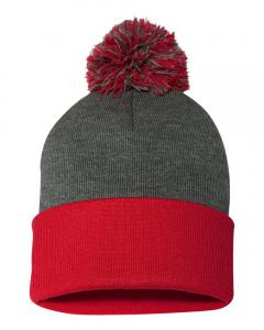 Dark Heather Grey/ Red