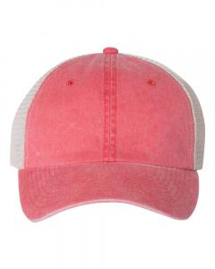 Red/ Stone Unisex Pigment-Dyed Trucker Cap