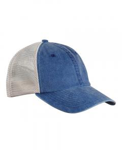 Royal/ Stone Unisex Pigment-Dyed Trucker Cap