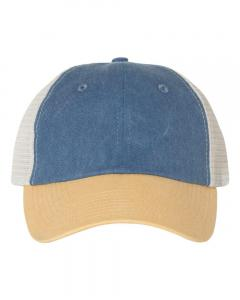 Royal/ Mustard/ Stone Unisex Pigment-Dyed Trucker Cap