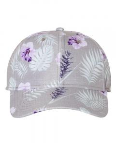 Grey/ Purple Tropical Print Cap