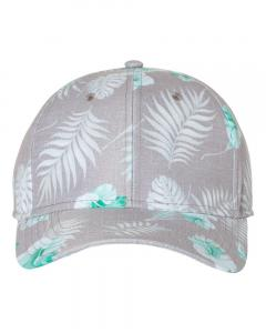 Grey/ Teal Tropical Print Cap