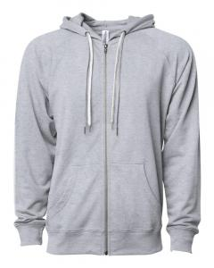 Athletic Heather Unisex Lightweight Loopback Terry Zip Hood