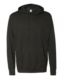 Charcoal Heather Unisex Lightweight Hooded Pullover T-Shirt