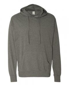 Gunmetal Heather Unisex Lightweight Hooded Pullover T-Shirt