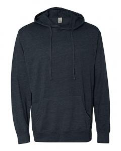 Classic Navy Heather Unisex Lightweight Hooded Pullover T-Shirt