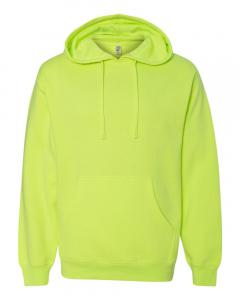 Safety Yellow Unisex Midweight Hooded Sweatshirt