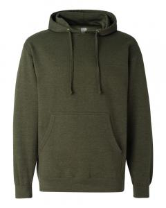 Army Heather Unisex Midweight Hooded Sweatshirt