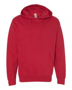 Red Unisex Midweight Hooded Sweatshirt