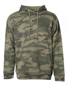 Forest Camo Unisex Midweight Hooded Sweatshirt