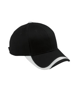 Black/white Sport Wave Baseball Cap
