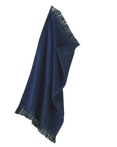Navy Fringed Spirit Towel