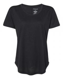 Black Women's At Ease Scoop Neck T-Shirt