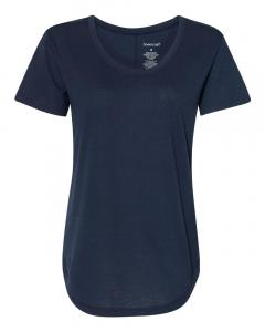 Navy Women's At Ease Scoop Neck T-Shirt