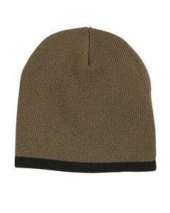 Olive/black Knit Cap