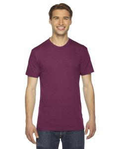 Tri Cranberry Unisex Triblend Short-Sleeve Track T-Shirt