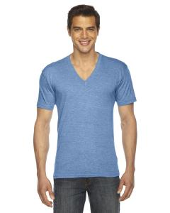 Athletic Blue Unisex Triblend Short-Sleeve V-Neck