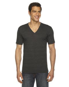 Tri Black Unisex Triblend Short-Sleeve V-Neck